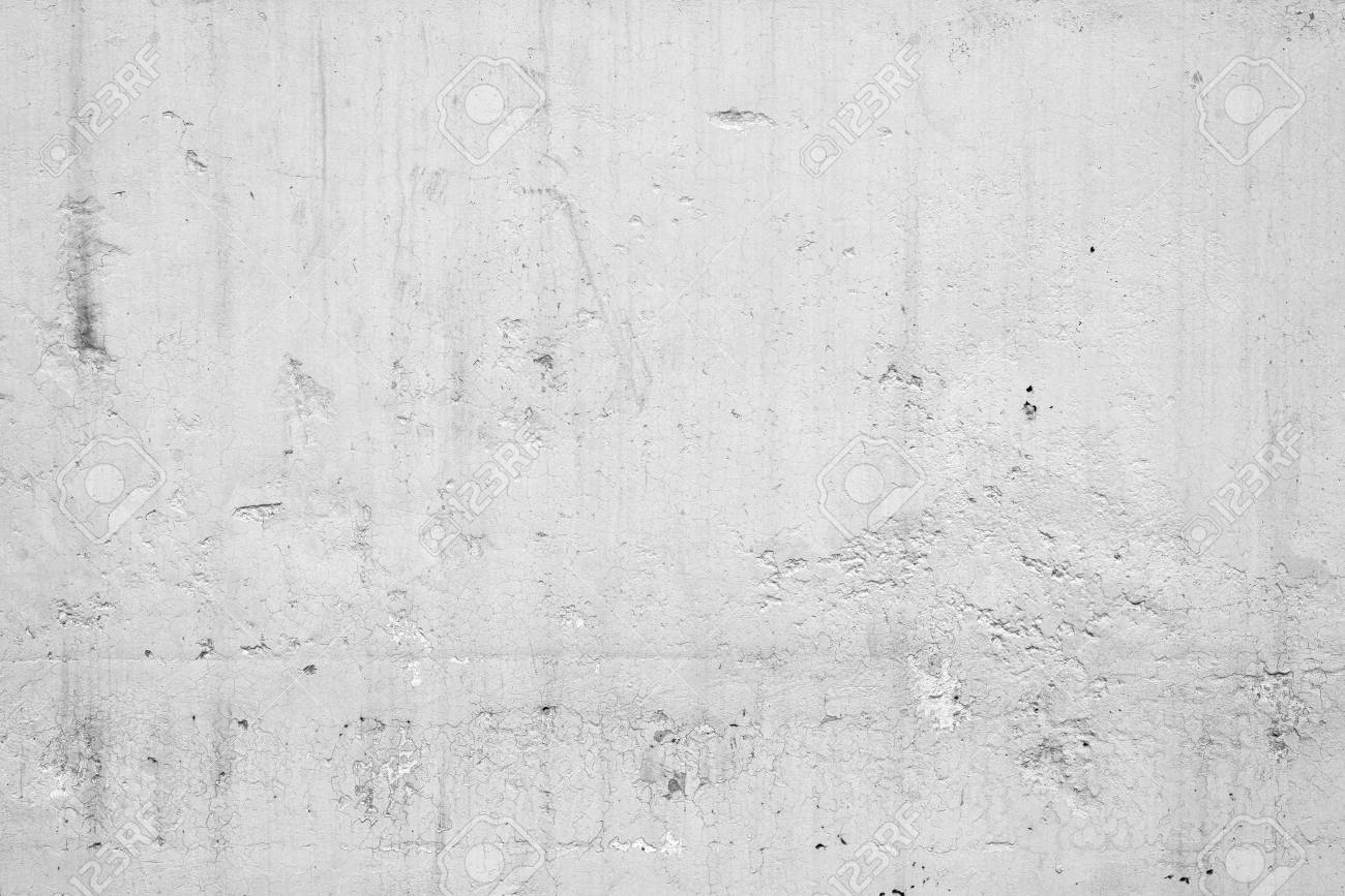 Concrete Texture For Background In White Colour Wall