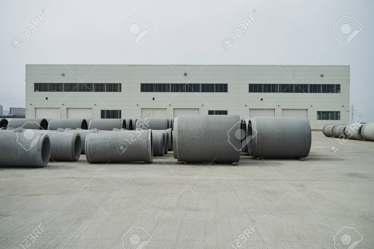 Warehouse manufacture sewer pipes
