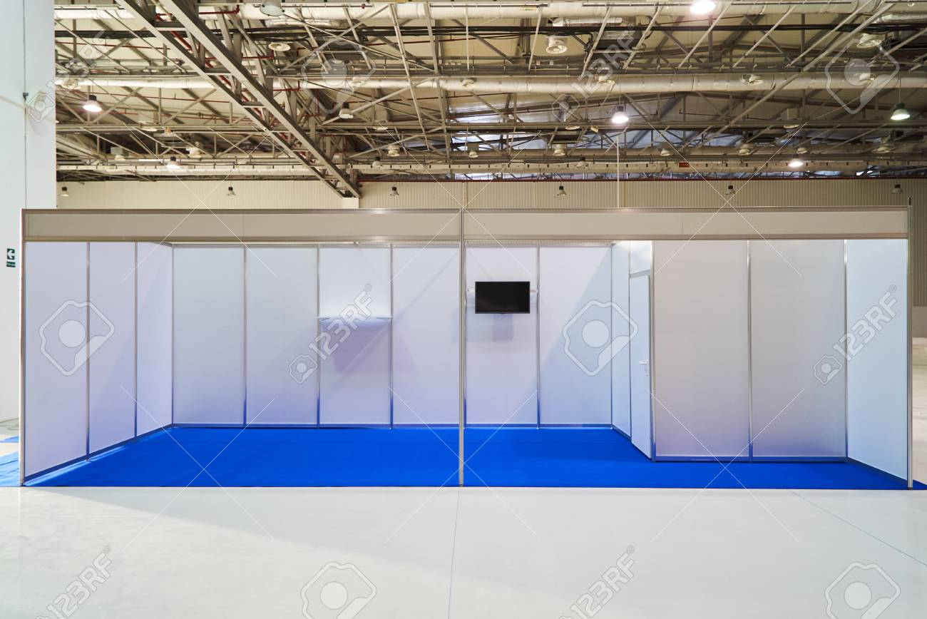 Exhibition Stand Or Booth : Exhibition stand design equipment booth template empty