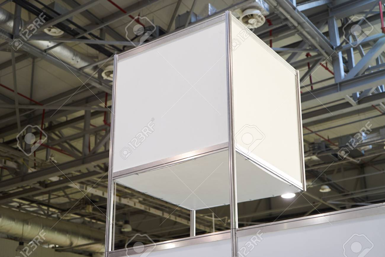 Exhibition Stand Lighting : Exhibition stand design equipment. booth template empty exhibition