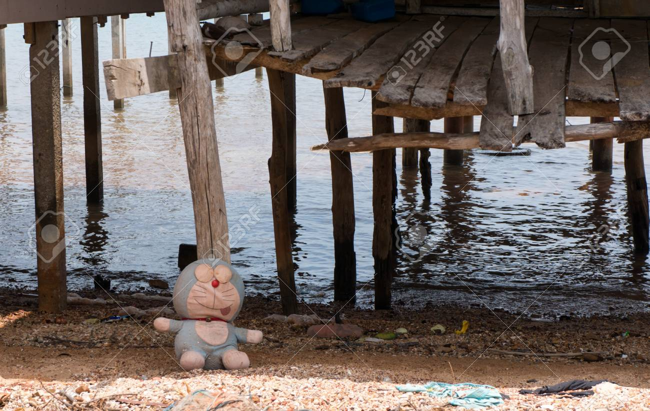 Childrens Toy In Front Of Stilt House At Sea Gypsy Village