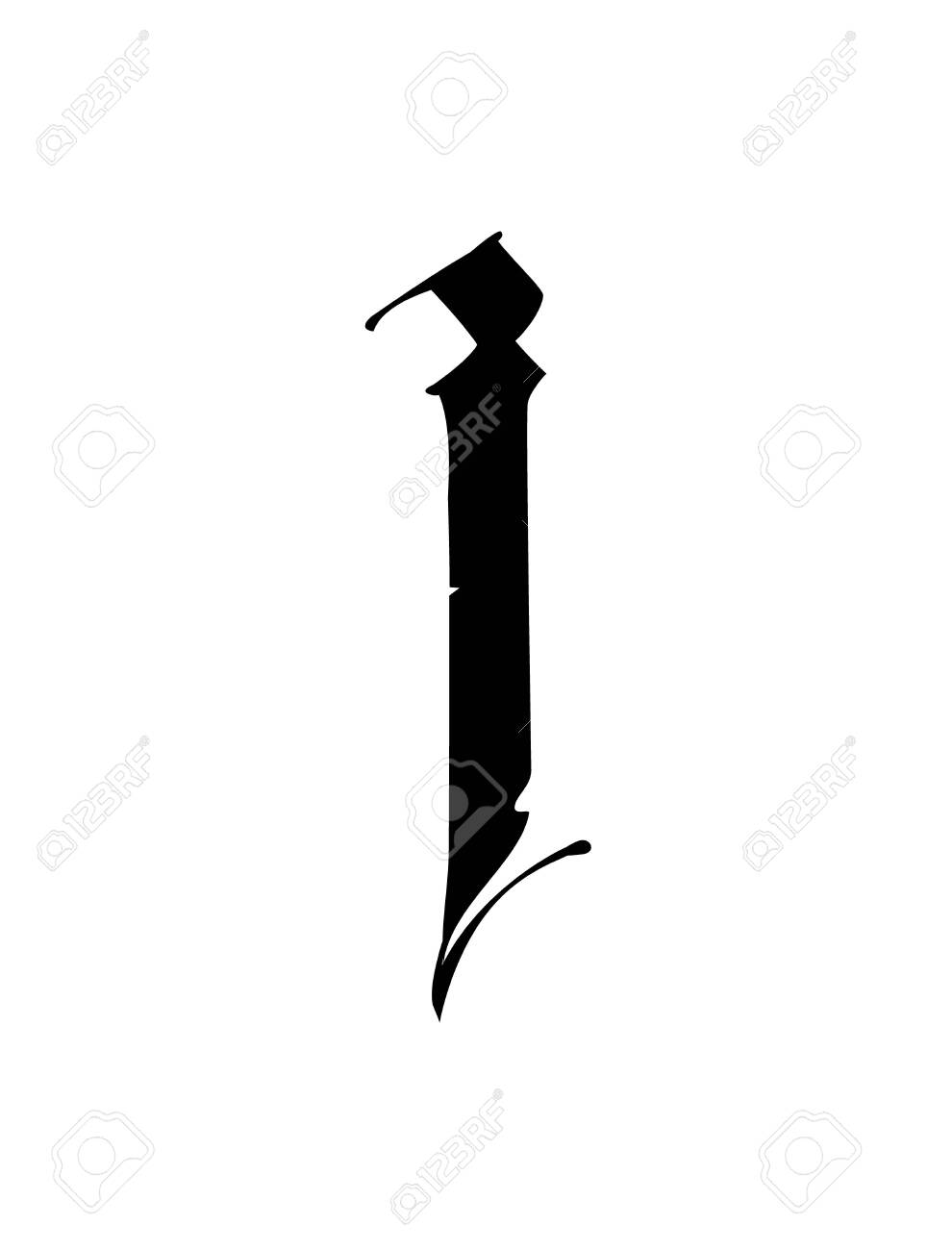 Letter I In The Gothic Style Vector Alphabet The Symbol Is Royalty Free Cliparts Vectors And Stock Illustration Image 132152421