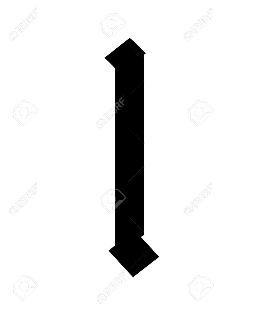 Letter l, in the Gothic style. Vector. Alphabet. The symbol is isolated on a white background. Calligraphy and lettering. Medieval Latin letter. - 157578677