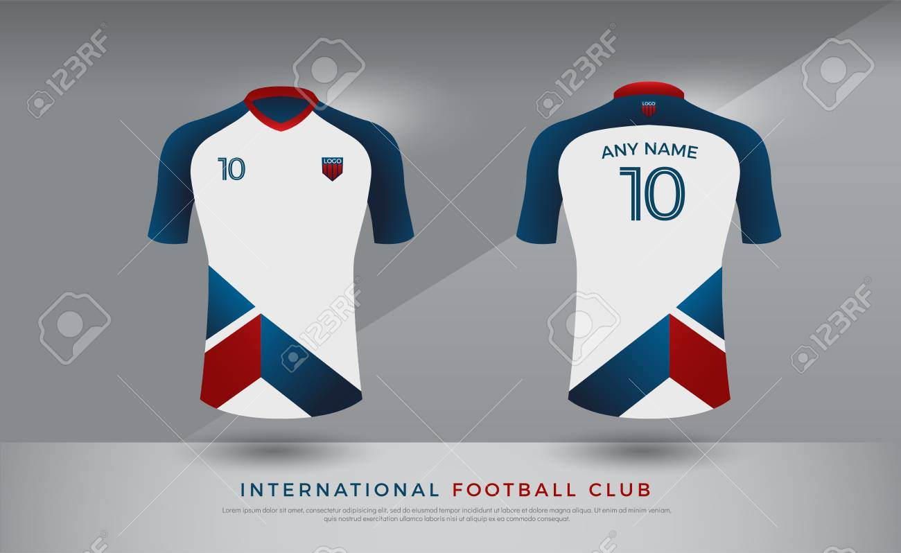 eaef5d1be Soccer t-shirt design uniform set of soccer kit. Football jersey template for  football