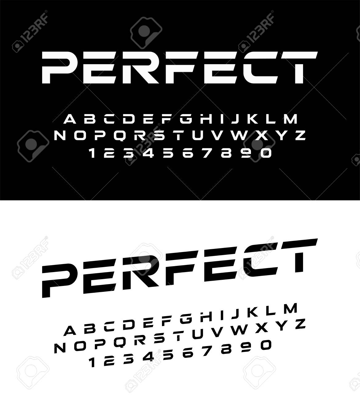 sport modern alphabet fonts and numbers  Typography font uppercase