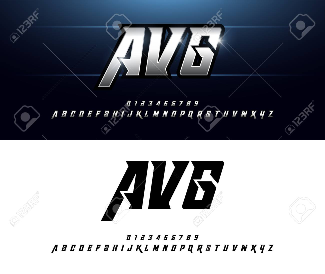 Alphabet silver metallic and effect designs. Elegant silver letters typography italic font. technology, sport, movie, and sci-fi concept. vector illustrator - 109158781