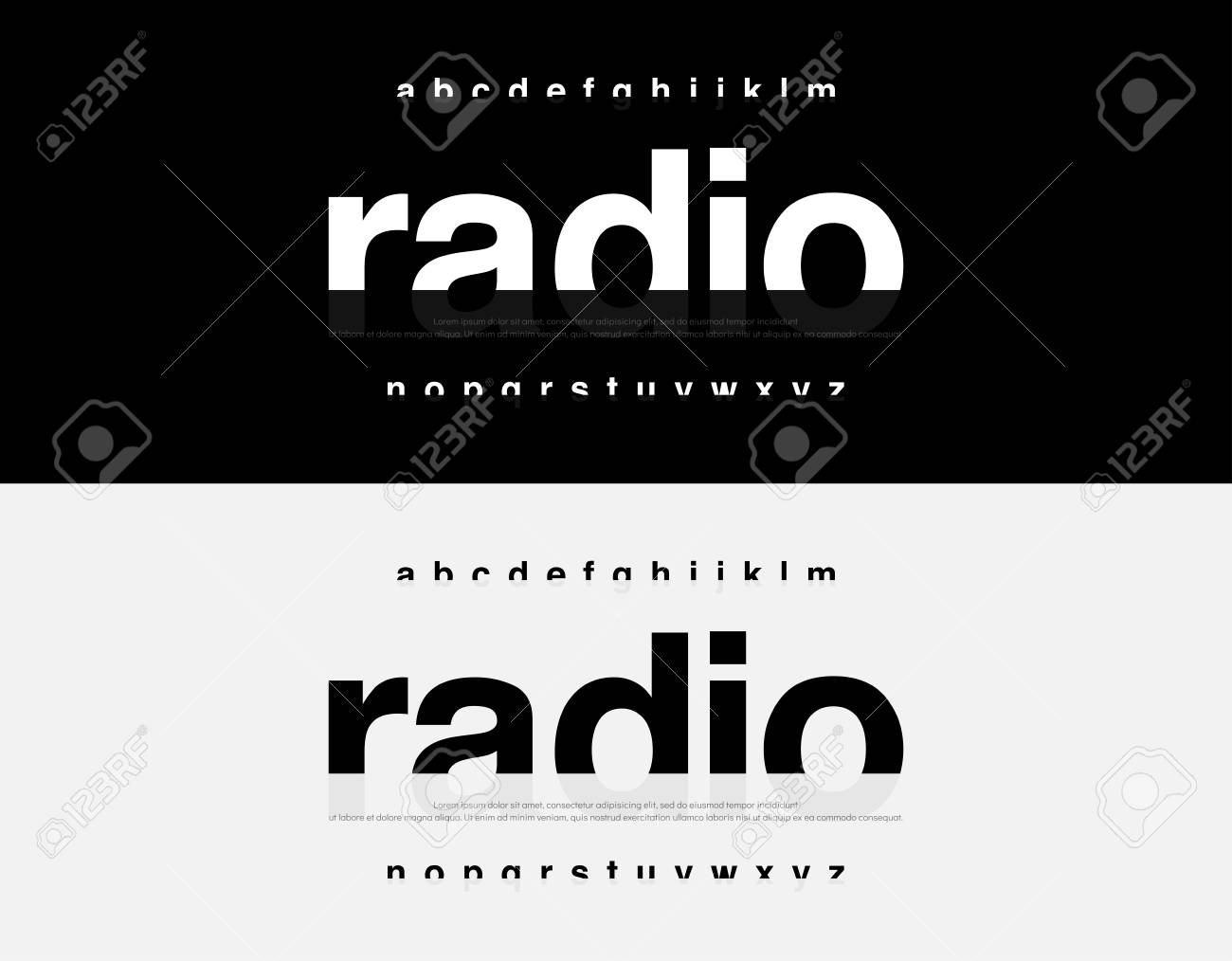 Abstract Modern Alphabet Font  Typography urban style fonts for