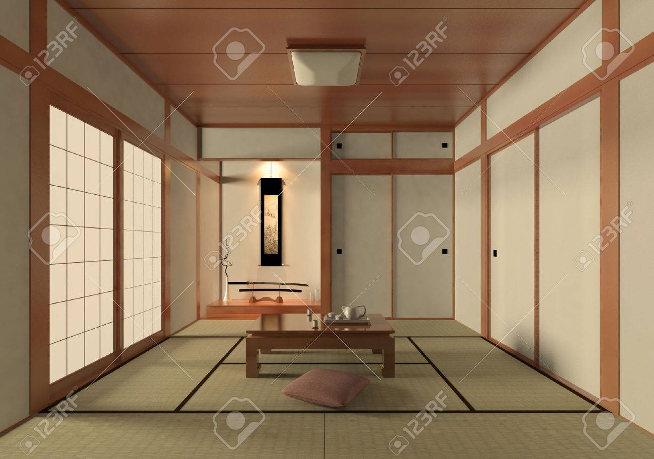 3D Rendering Japanese Style Room Stock Photo, Picture And Royalty ...
