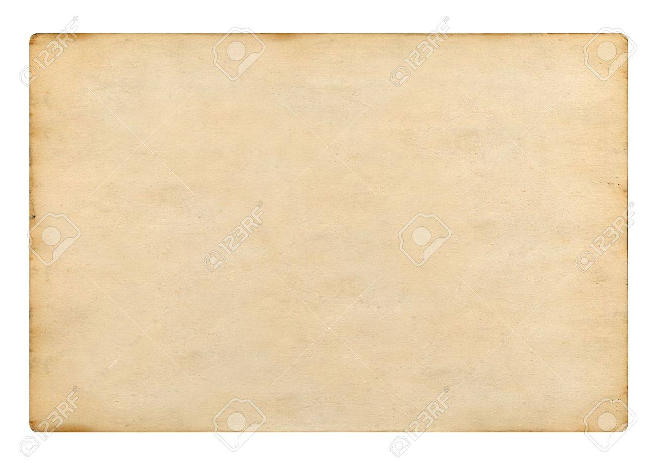 Old Blank Plain Paper On White Background Photo Picture And – Blank Paper Background