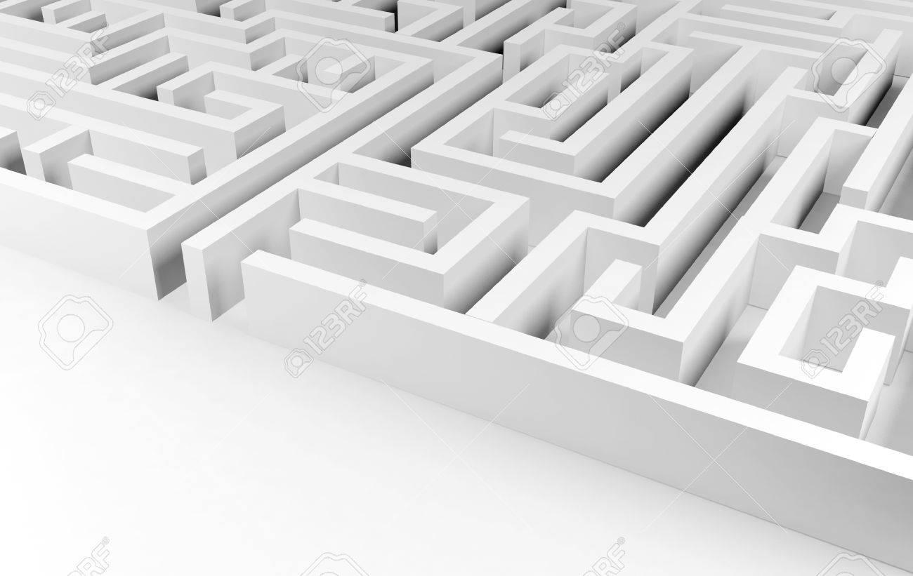Maze background, complex problem solving concept