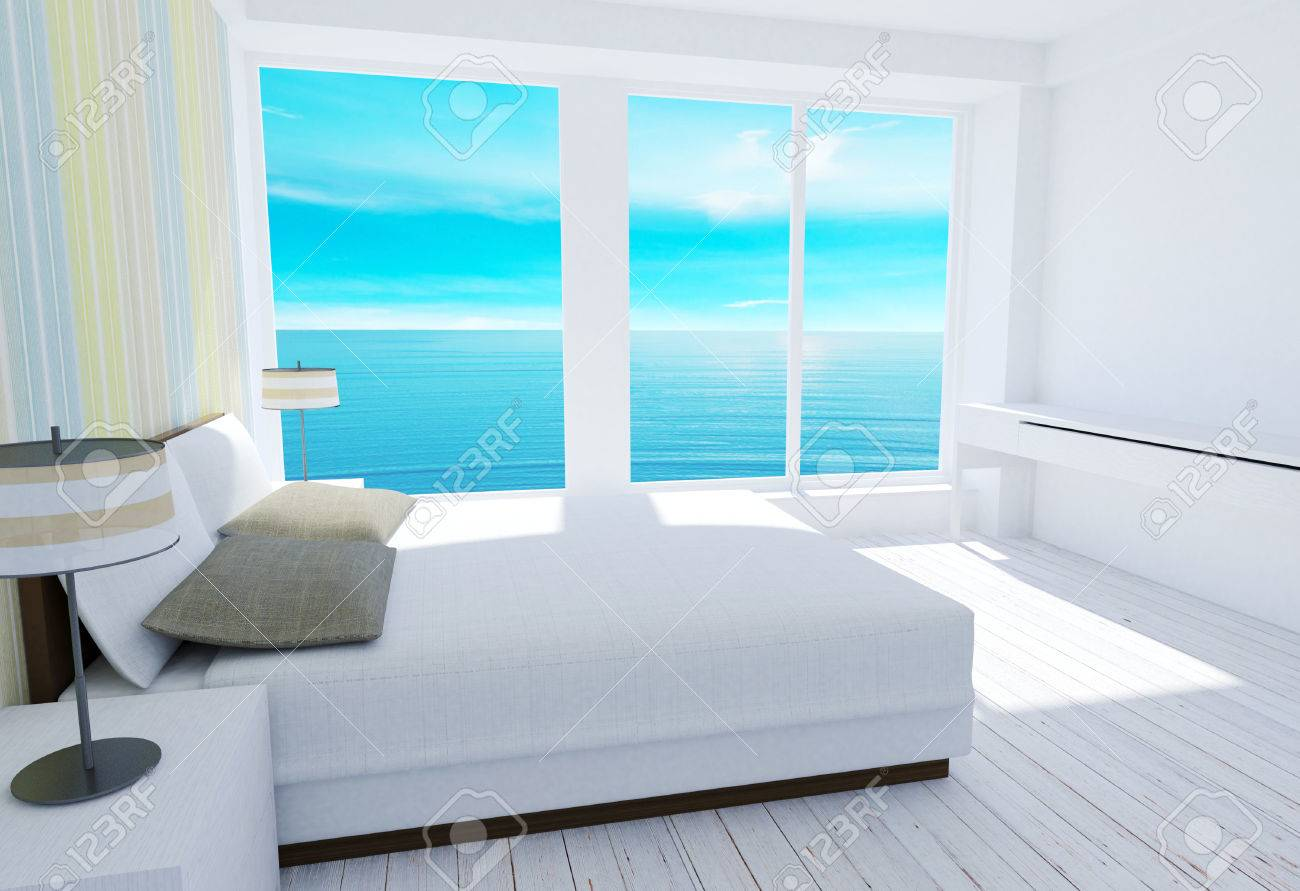 Soppalco Camera Da Letto Moderno : Bianco moderno soppalco camera da letto tra con vista mare il