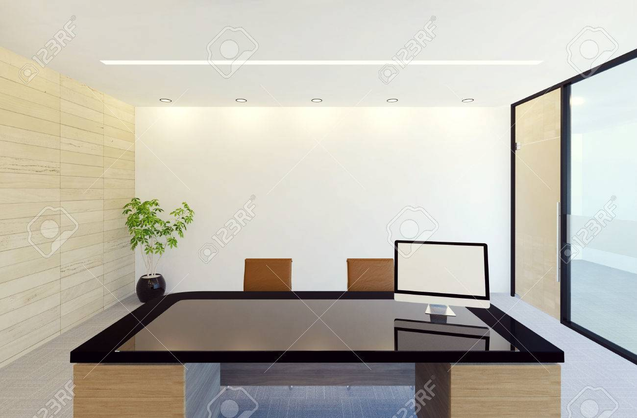 managers office design. Modern Manager Office Room Interior, View From Manager\u0027s Chair, 3D Rendering Stock Photo - Managers Design L