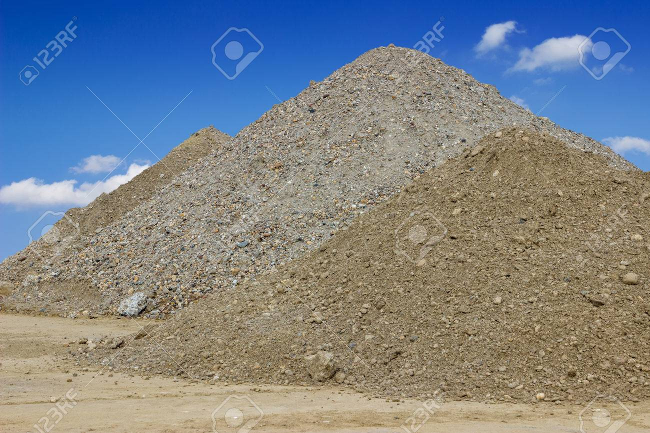 Piles of building construction sand. Sand for construction. - 41489292