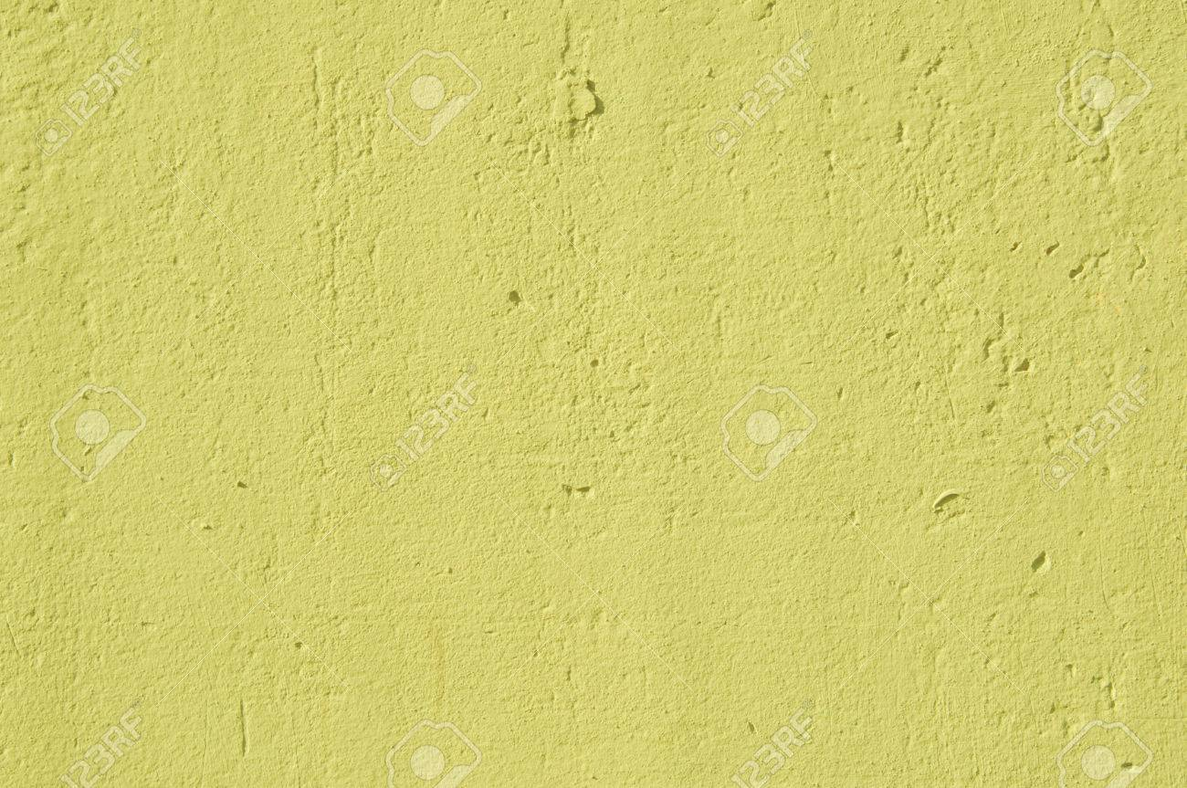 Concrete Wall Painted In Yellow Colour Stock Photo, Picture And ...