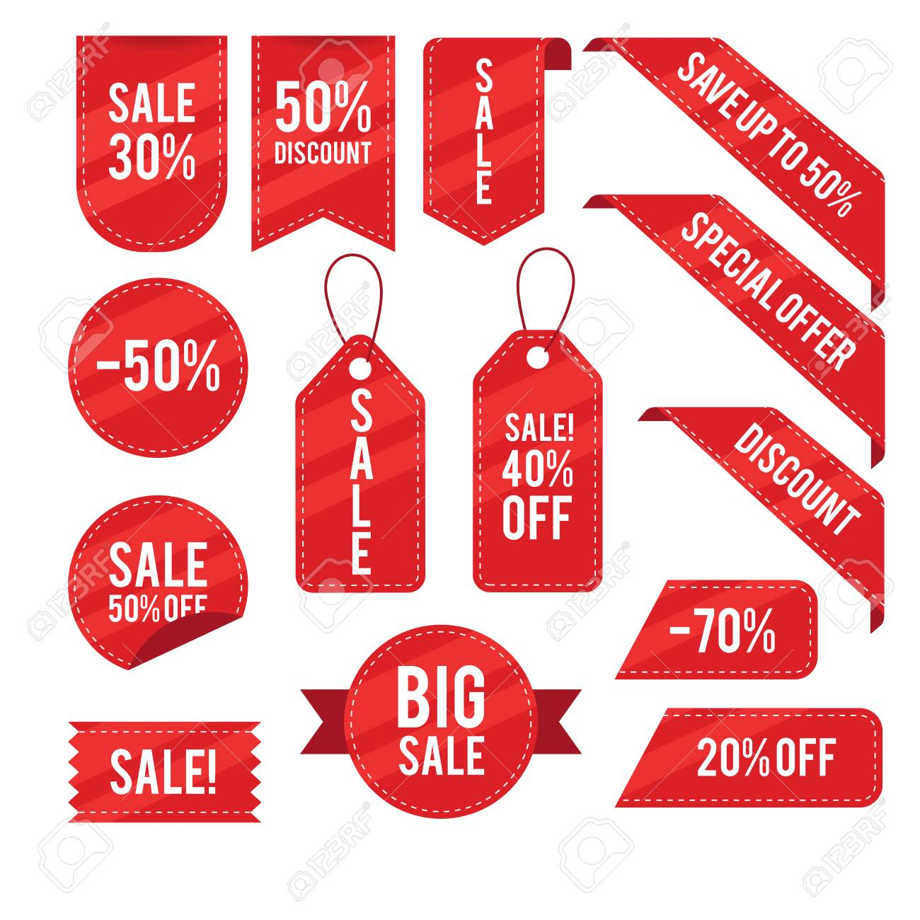 Sales,discounts,tags vector design collection - 105234023