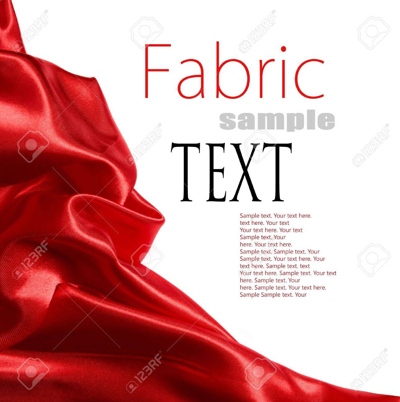 red satin fabric with place for your text - 11218816
