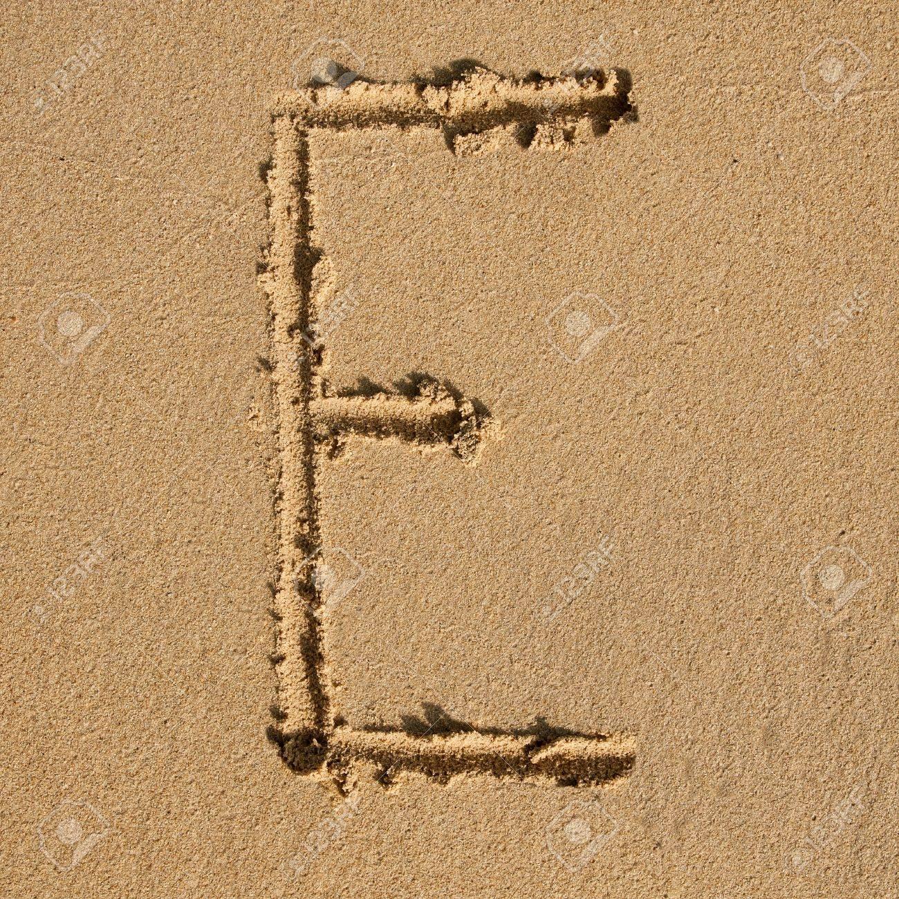 English alphabet in the sand Stock Photo - 12469671