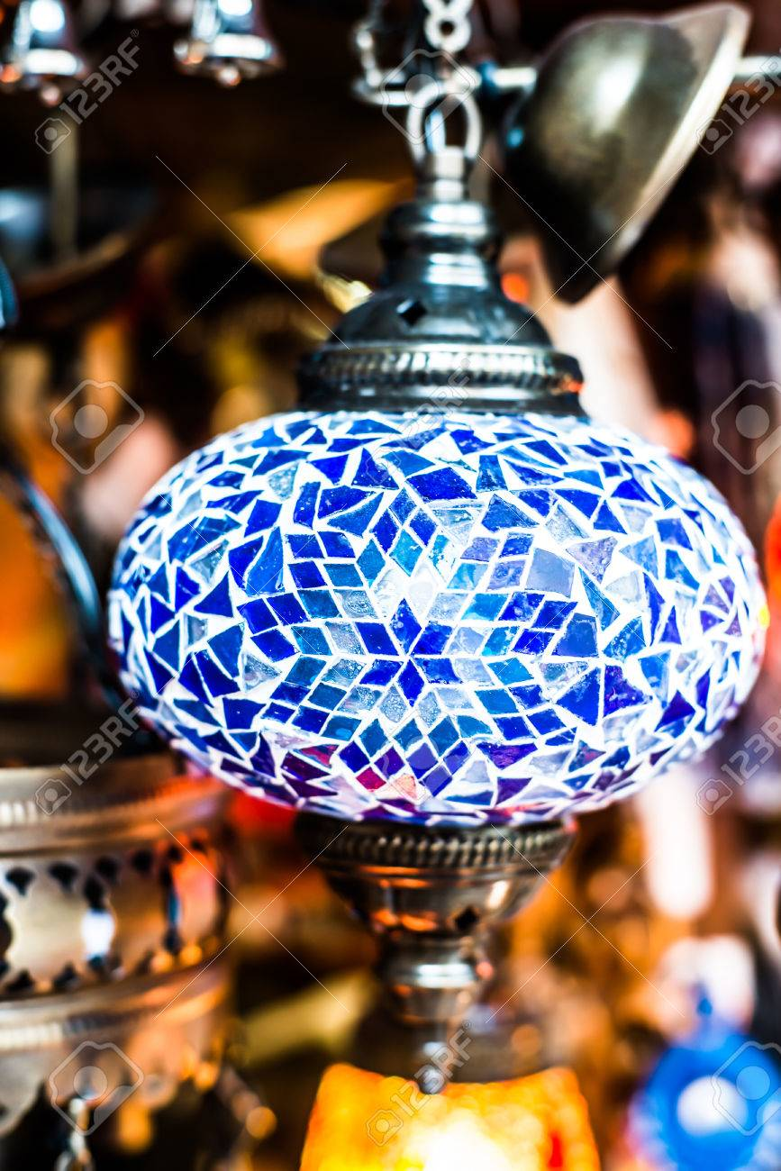 Traditional Arabic Lamp At Souvenir Shop In Dubai, UAE Stock Photo ... for Traditional Arabic Lamp  568zmd