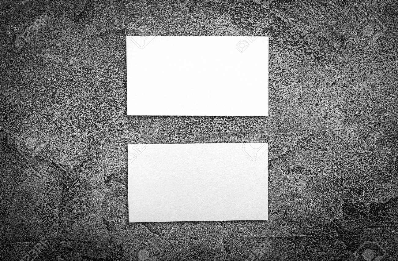 Set of white business cards blank business cards for company set of white business cards blank business cards for company style stock photo reheart Image collections
