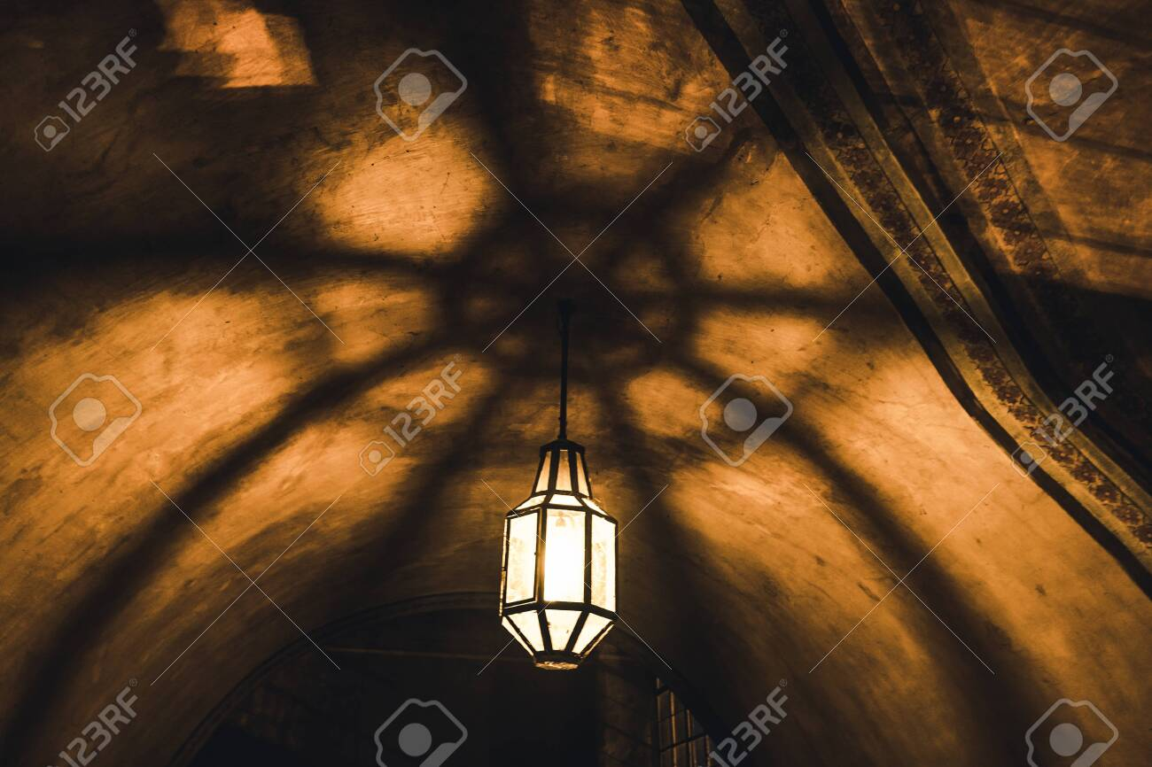 Light From The Lamp On The Ceiling And The Shadows In The Mysterious Stock Photo Picture And Royalty Free Image Image 123886243