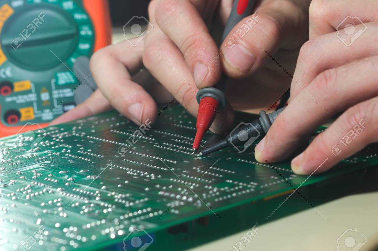 Testing pcb board with multitester