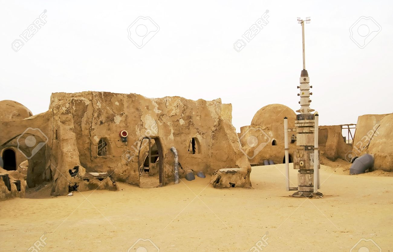 abandoned sets for the shooting of the movie star wars in the