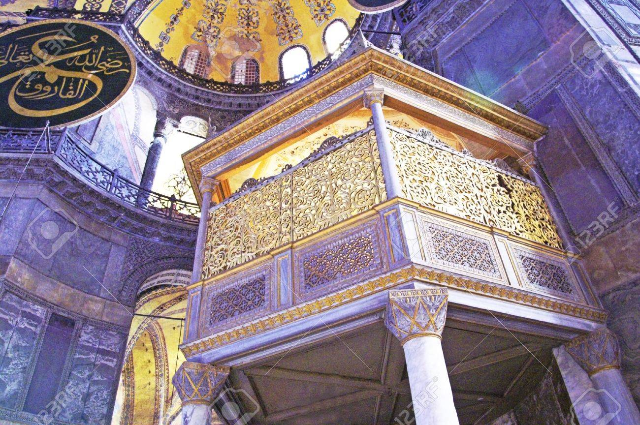 Balcony in Higia Sofia in Istanbul, Turkey Stock Photo - 12240531