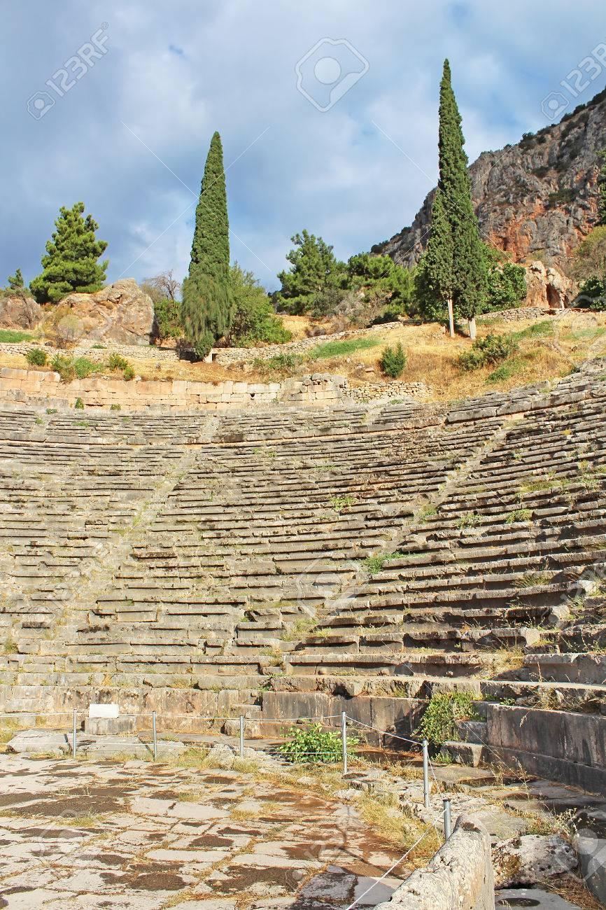 古代劇場デルファイ ギリシャ。...