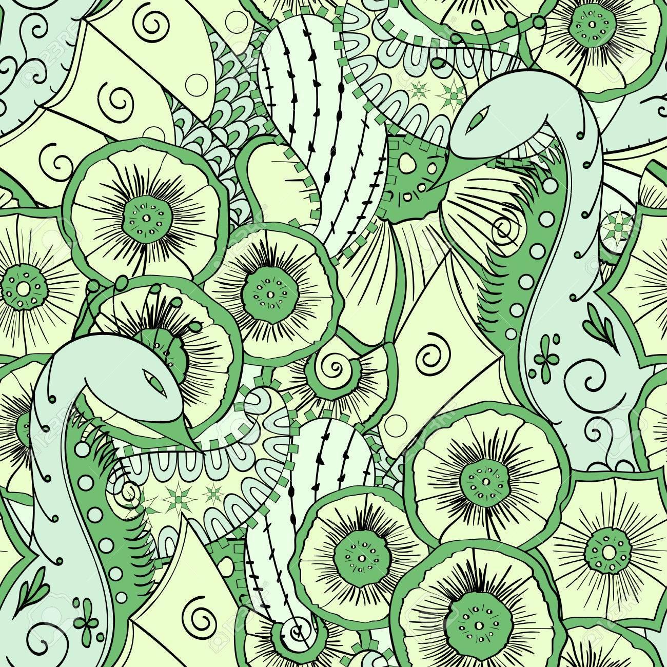 Grün Muster Natürliche Sumpf Mit Einer Pfauenmotiv Einfache
