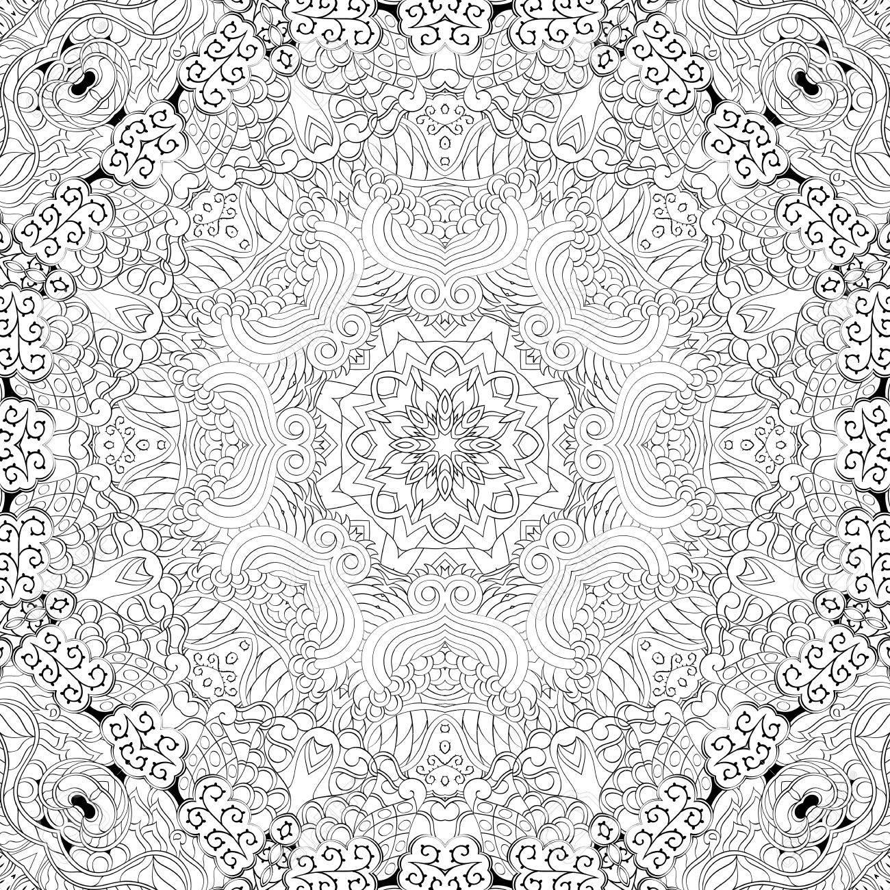 Teppich design textur  Tracery Binäres Muster. Mehendi-Teppich-Design. Gepflegte, Selbst ...