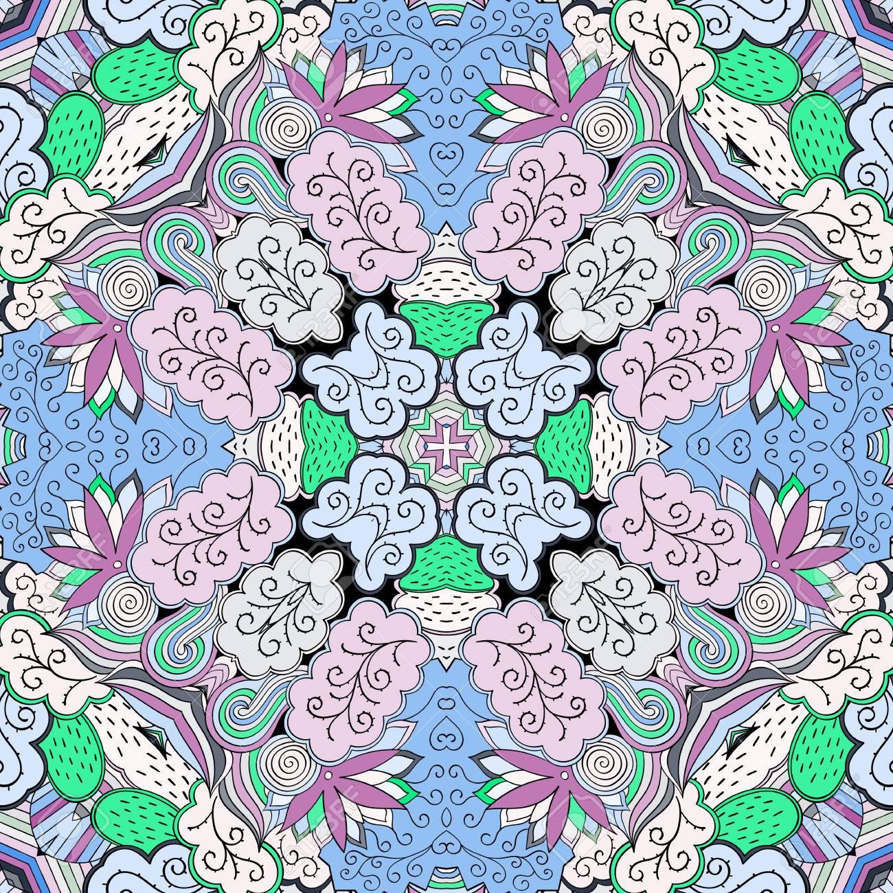 Teppich design textur  Tracery Buntes Muster. Mehendi-Teppich-Design. Neat Sogar ...