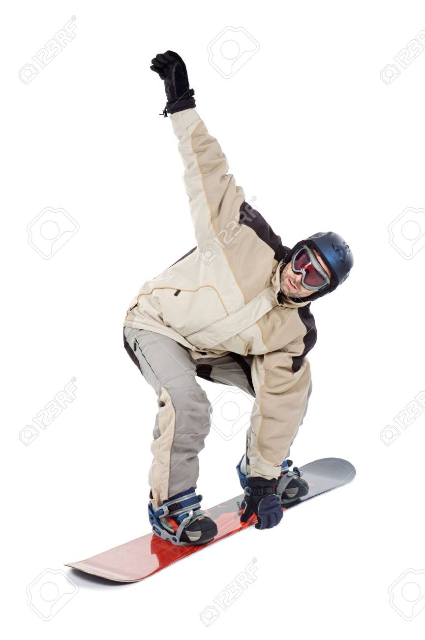 SNOWBOARDER FLY ISOLATED Stock Photo - 613514