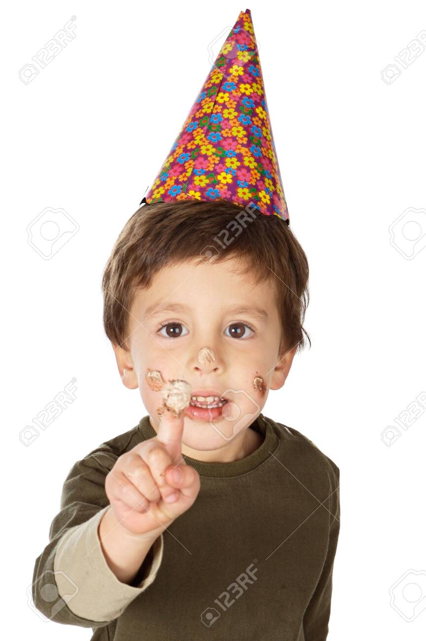photo of an adorable  kid celebrating his birthday Stock Photo - 675799