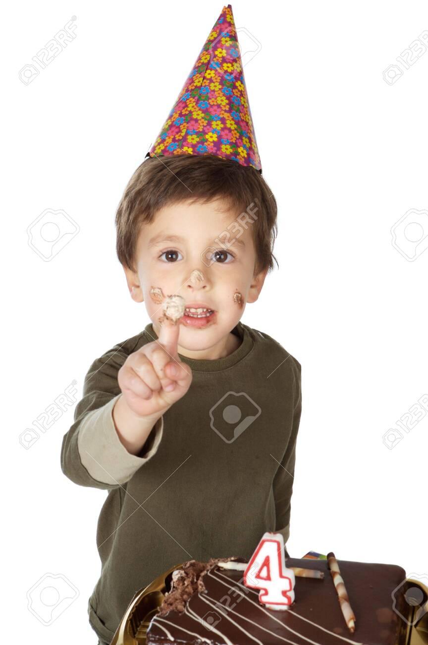 photo of an adorable  kid celebrating his birthday Stock Photo - 675554