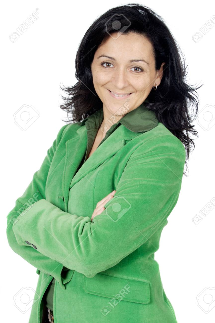 attractive and elegant business woman over a white background Stock Photo - 726893