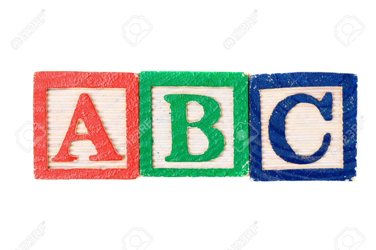 Alphabet learning blocks isolated over white Stock Photo - 3959577