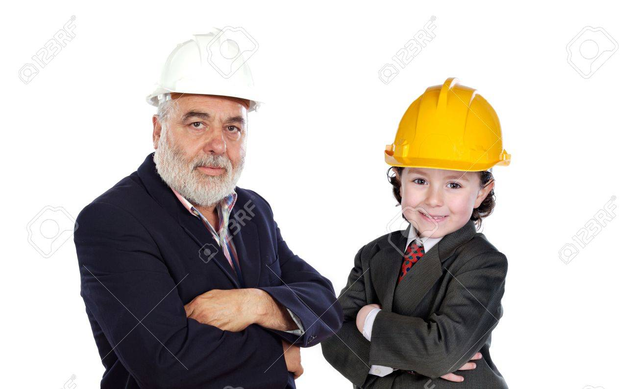 Family business isolated over white Stock Photo - 4603598