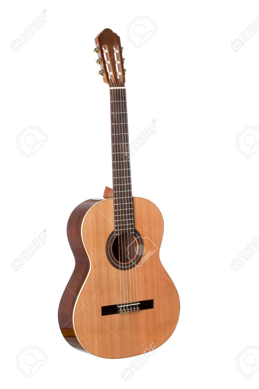 Beautiful classical guitar isolated on white background Stock Photo - 6747148
