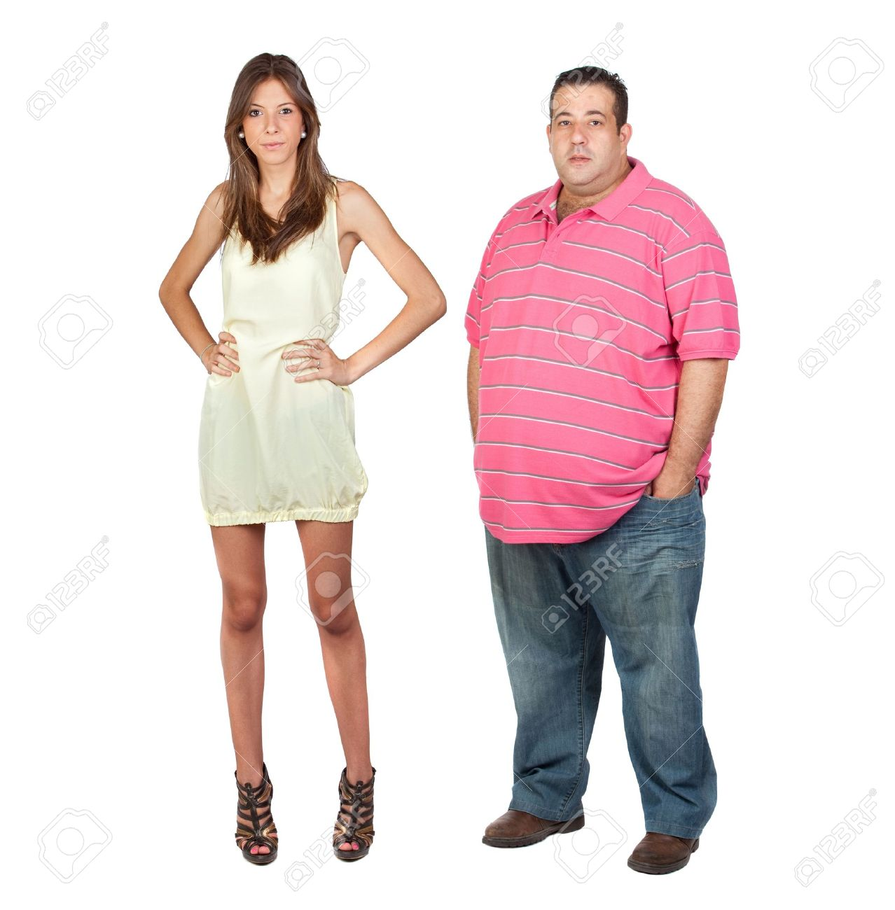Толстая девушка и худой парень 8 фотография
