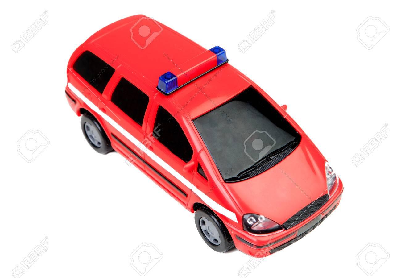 D Blanc Sur Banque Un Jouet De Police Voiture Isolé Rouge Fond C3jlfukt1 oQdCWerBEx