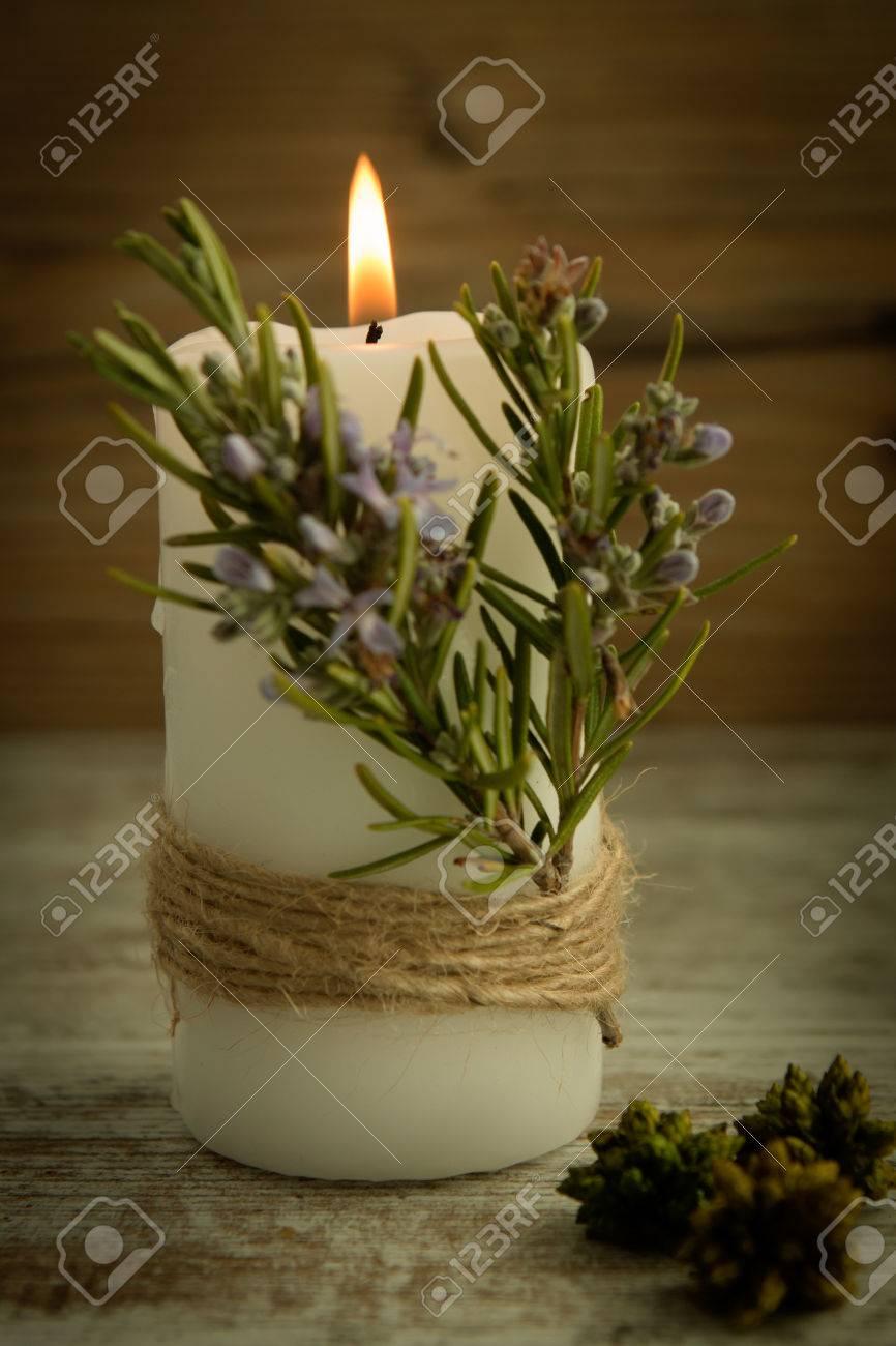 Kerzen Dekoration.Stock Photo