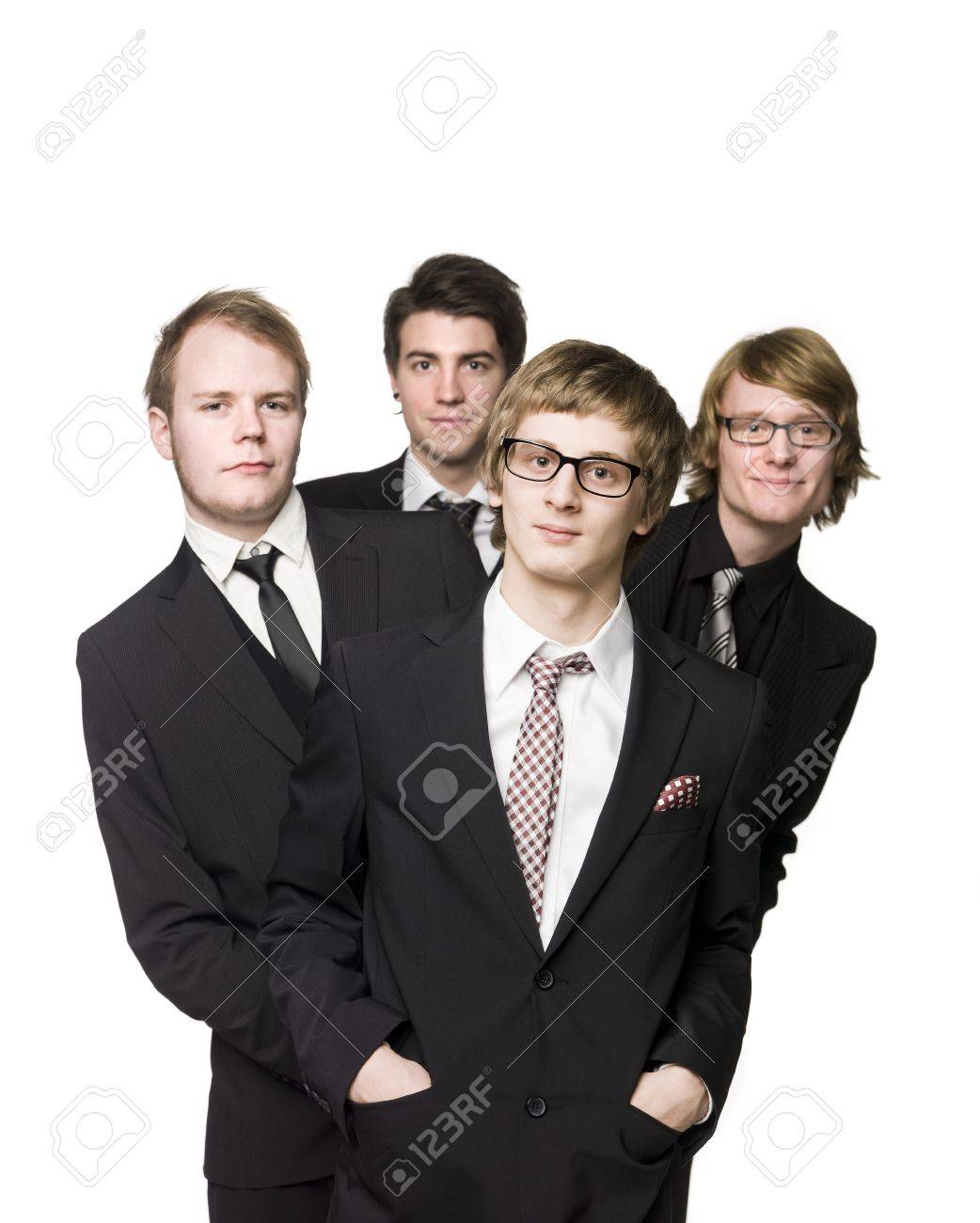 Four men with suits Stock Photo - 4396083