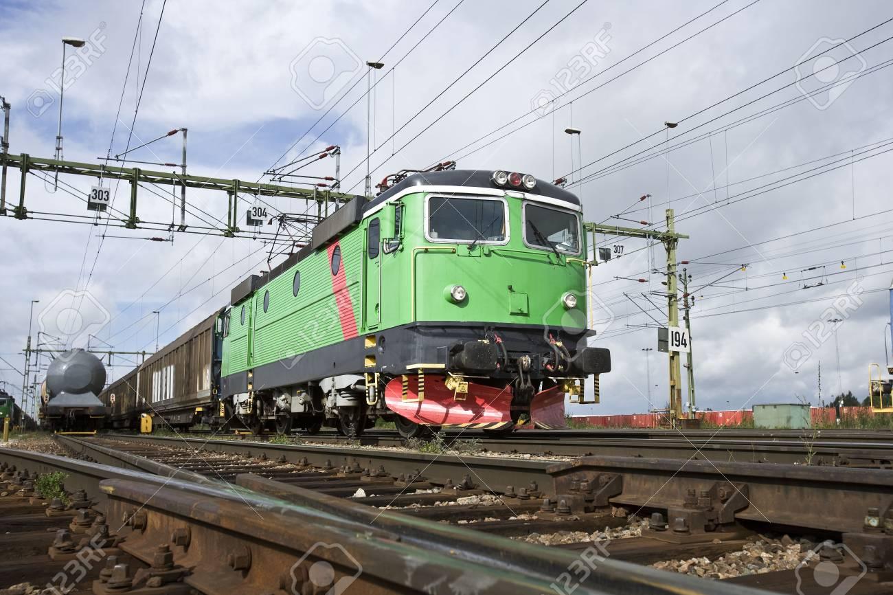 Train on the railway Stock Photo - 5011781