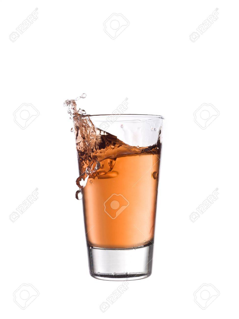 Splash in a glass of red lemonade Stock Photo - 5375319