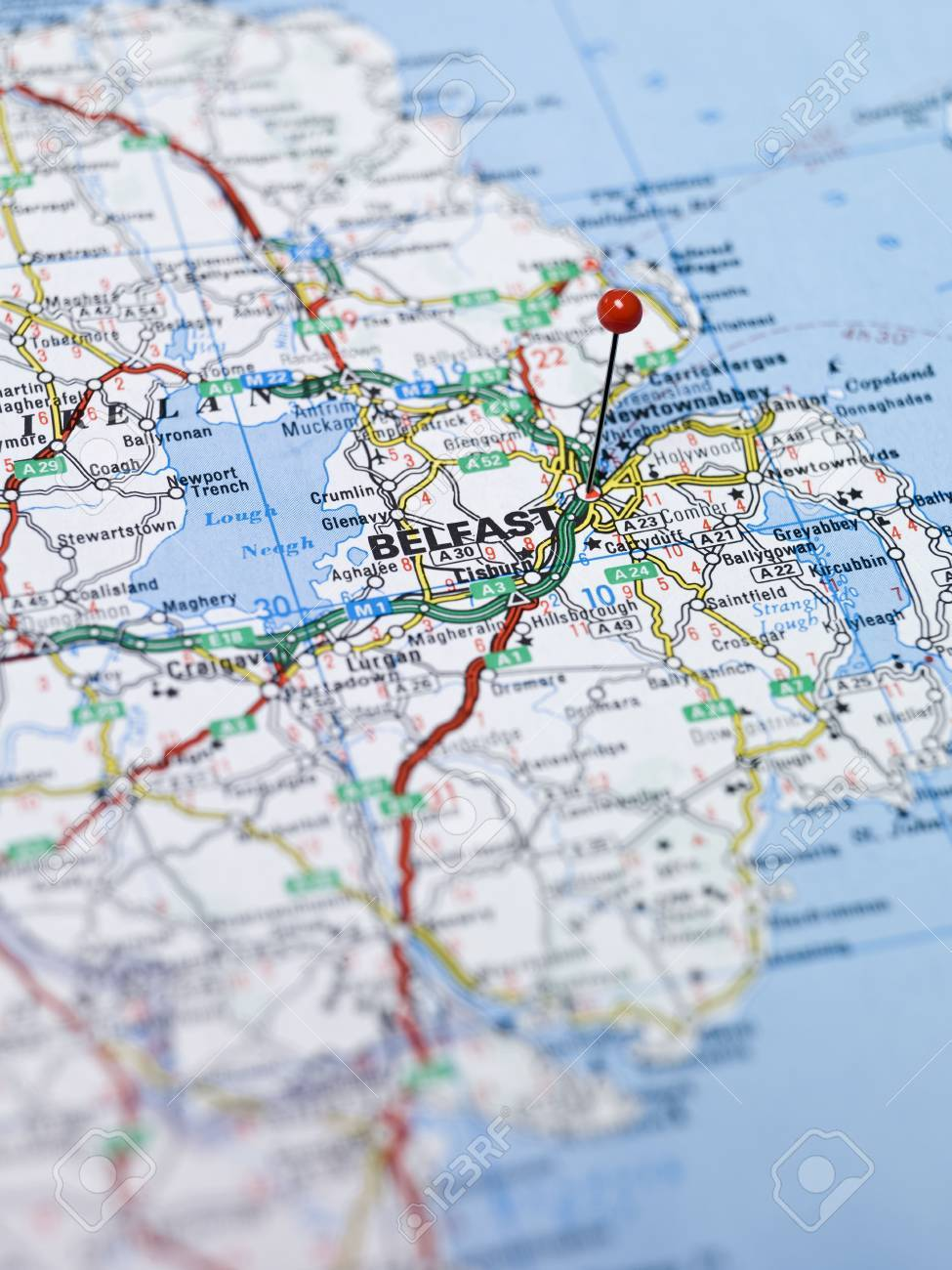 Map of Belfast in Northern Ireland Stock Photo - 5375487