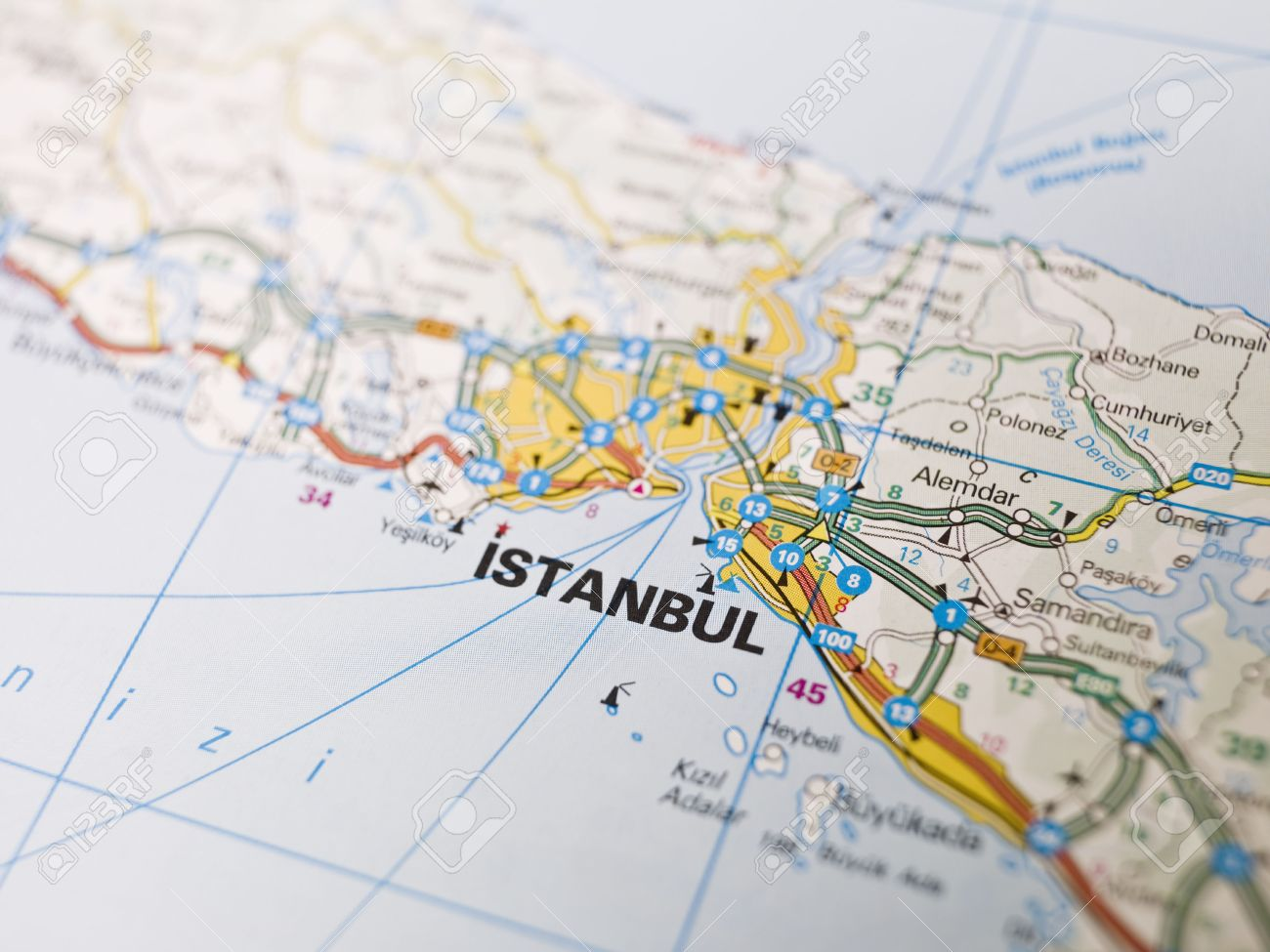 Map Of Istanbul In Turkey Stock Photo Picture And Royalty Free
