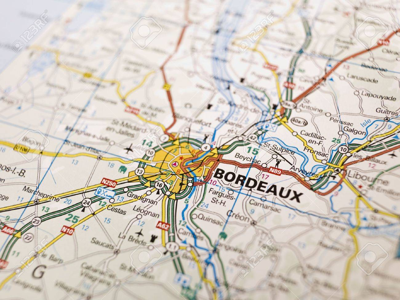 Map Of Bordeaux In France Stock Photo Picture And Royalty Free