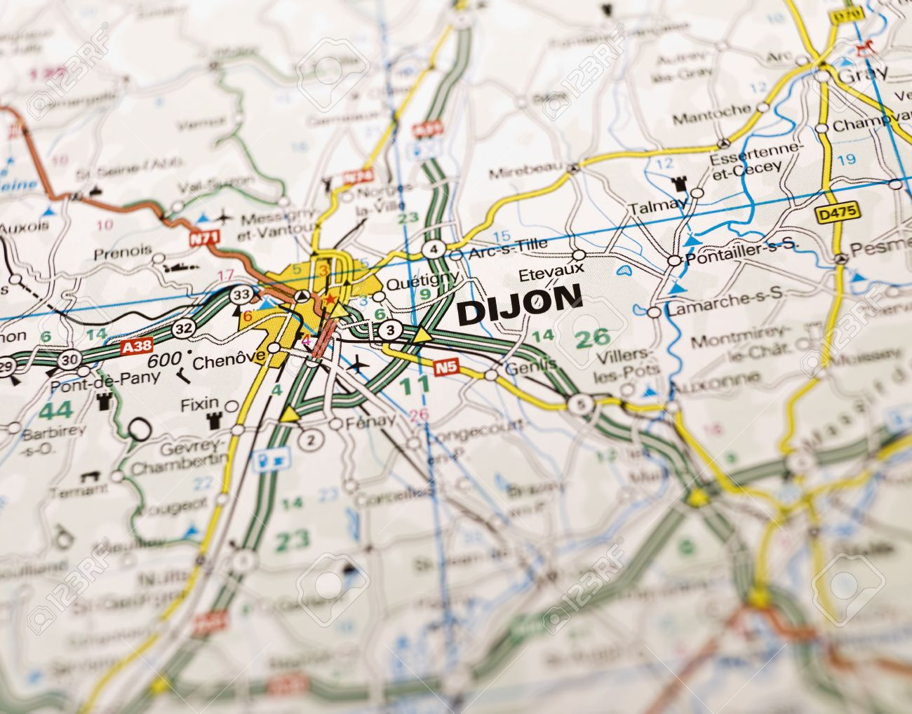 Map Of Dijon In France Stock Photo Picture And Royalty Free Image