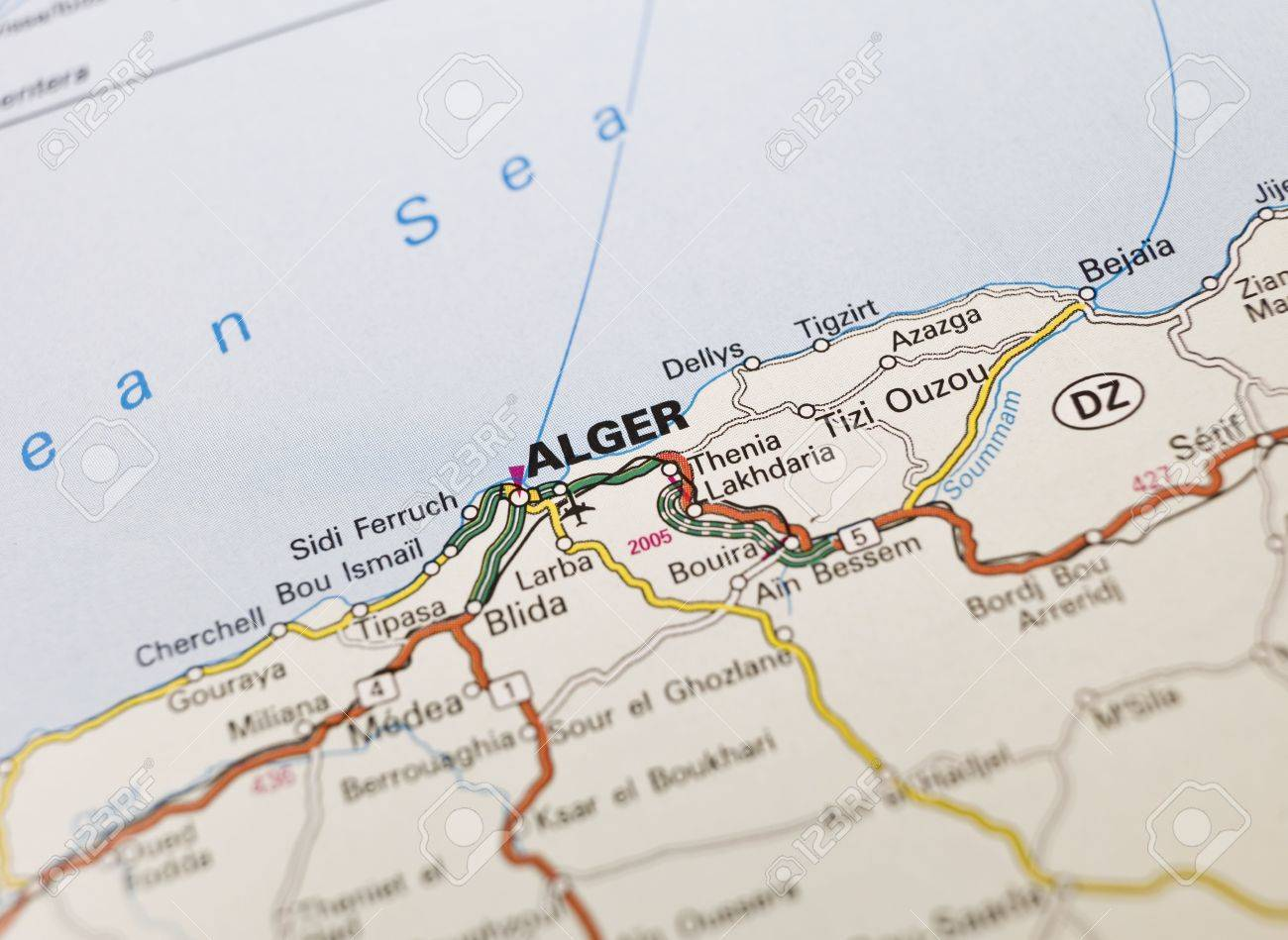 Map Of Alger In Algeria Stock Photo Picture And Royalty Free - Setif map