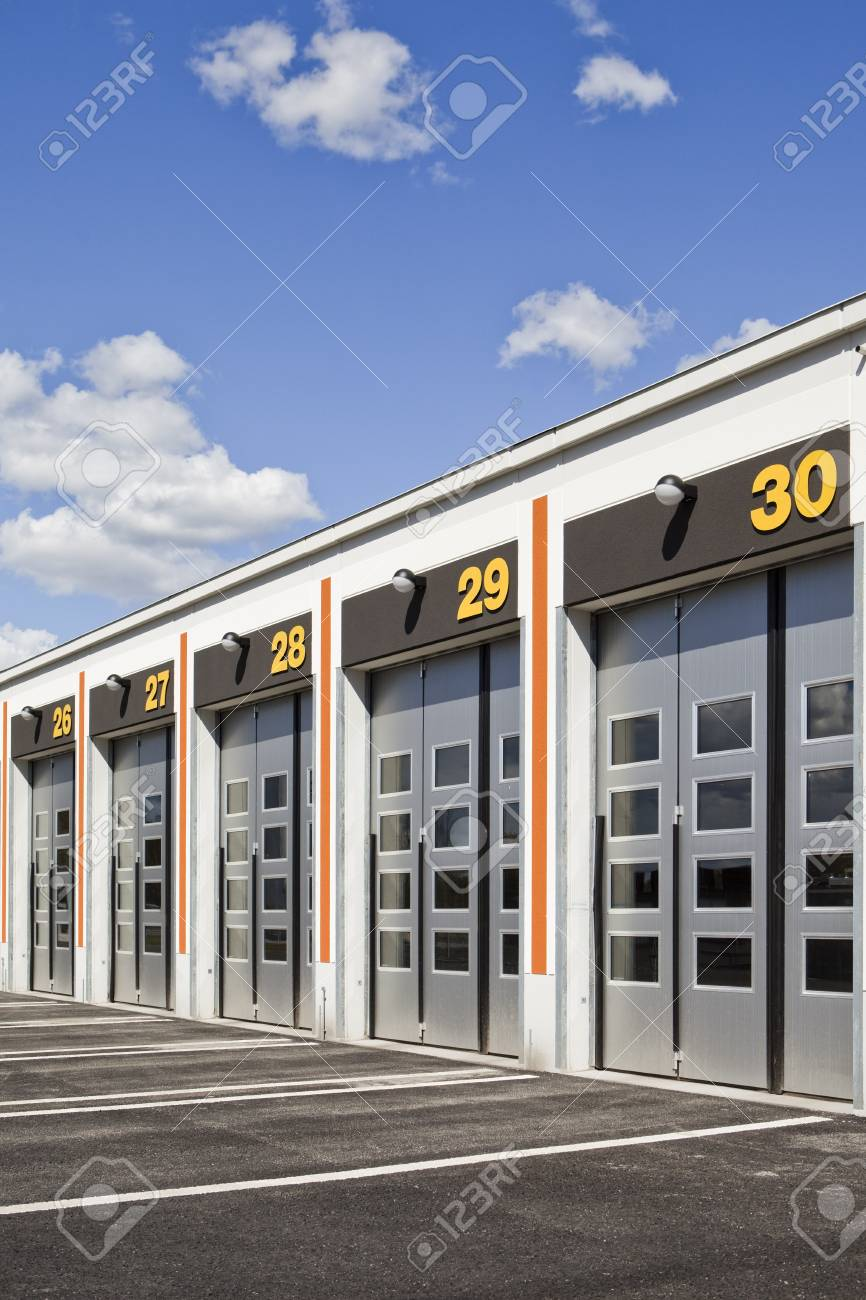 Garage doors on a sunny day Stock Photo - 7039498
